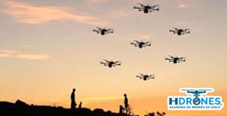 Conoce como funciona un enjambre Drones